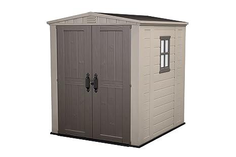 Keter Factor 6 x 6 - Cobertizo con cerradura. Caseta para jardín de 6.100 l