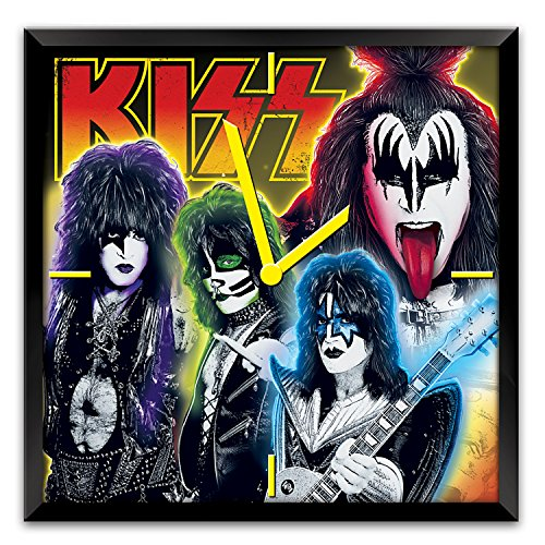 The Bradford Exchange KISS Time to Rock Musical Wall Clock Lights Up with Motion:by