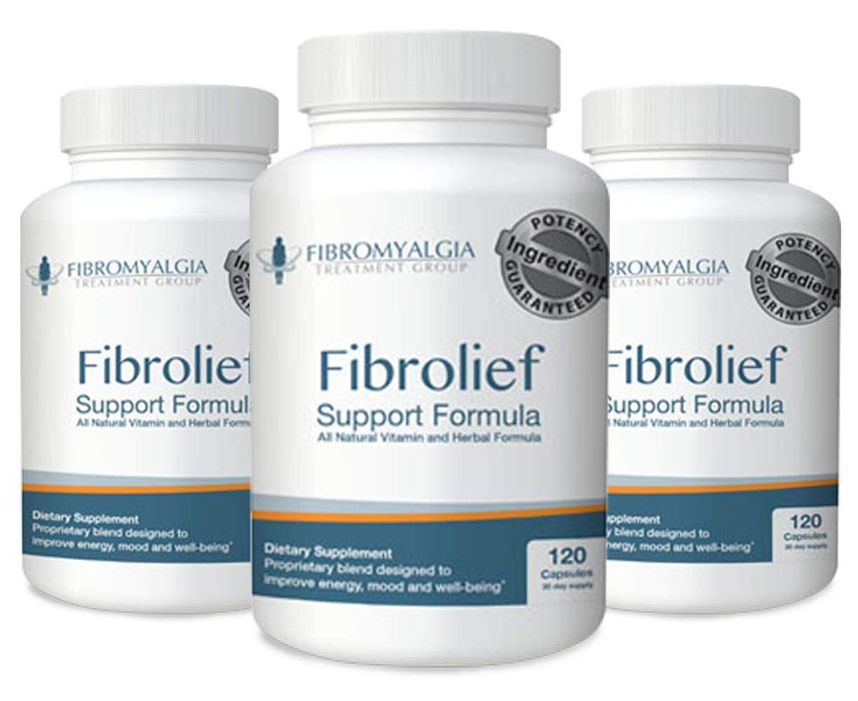 Fibrolief: Fibromyalgia Support Supplement - Manufactured in FDA-Approved Facility - Formulated for Maximum Bioavailability and Alternative Pain Relief - 120 Count (30 Day Supply) - 3pk