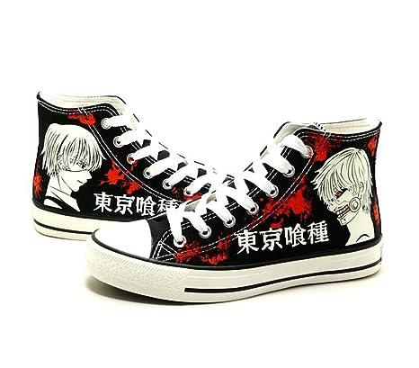 4ad62d5276d48 Telacos Tokyo Ghoul Kaneki Ken Cosplay Shoes Canvas Shoes Sneakers Luminous  1