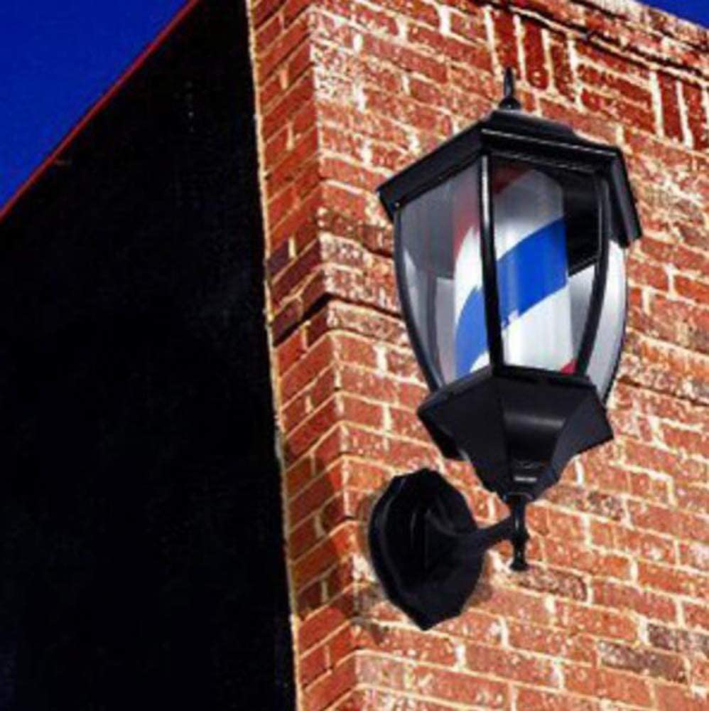 Rojo Azul Y Blanco Peque/ño 49 Montado L/ámpara EOVL Poste De Barbero Luminoso De Exteriores Poste De Peluqueria Barber Pole Led Giratorio Para Peluquer/ía Sal/ón Tienda Firmar Pared