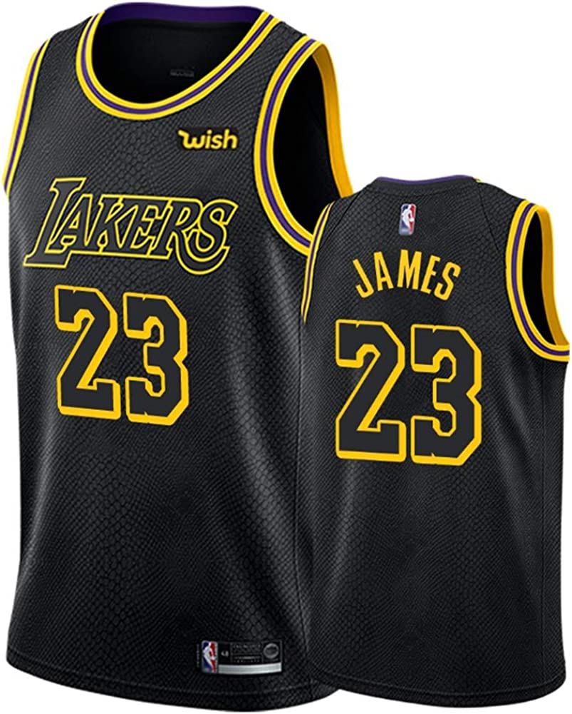 Camiseta de Baloncesto Kobe Bryant Lebron James Anthony Davis Kyle Kuzma Los Angeles Lakers para Hombres Adultos, Camiseta de Baloncesto Black Mamba Conmemorative Edition