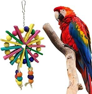 Hihey Juguete de pájaro Colorido Pájaro de Juguete Pájaro Loro ...