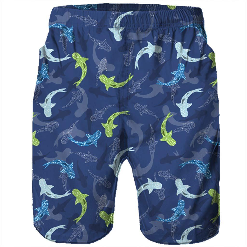 Xiloccer Men Casual 3D Graffiti Printed Beach Work Casual Men Short Trouser Shorts Pants