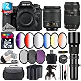 Holiday Saving Bundle for D7500 DSLR Camera + Tamron 70-300mm Di LD Lens + AF-P 18-55mm + 500mm Telephoto Lens + 6PC Graduated Color Filter + 2yr Extended Warranty + Battery - International Version