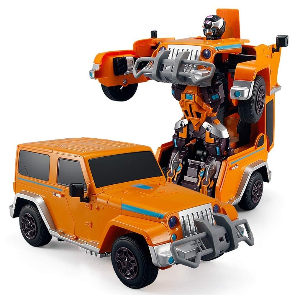 Orange  IBalody 5 Styles en Option Recharge Télécomhommede Voiture De Course éducative Un Bouton Transformateurs RC Véhicule Intelligent Bon Anniversaire Festival Cadeaux pour Enfants 6+ (Couleur   Orange)