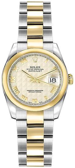 Las mujeres de Rolex lady-datejust 26 oro y acero reloj de lujo, #