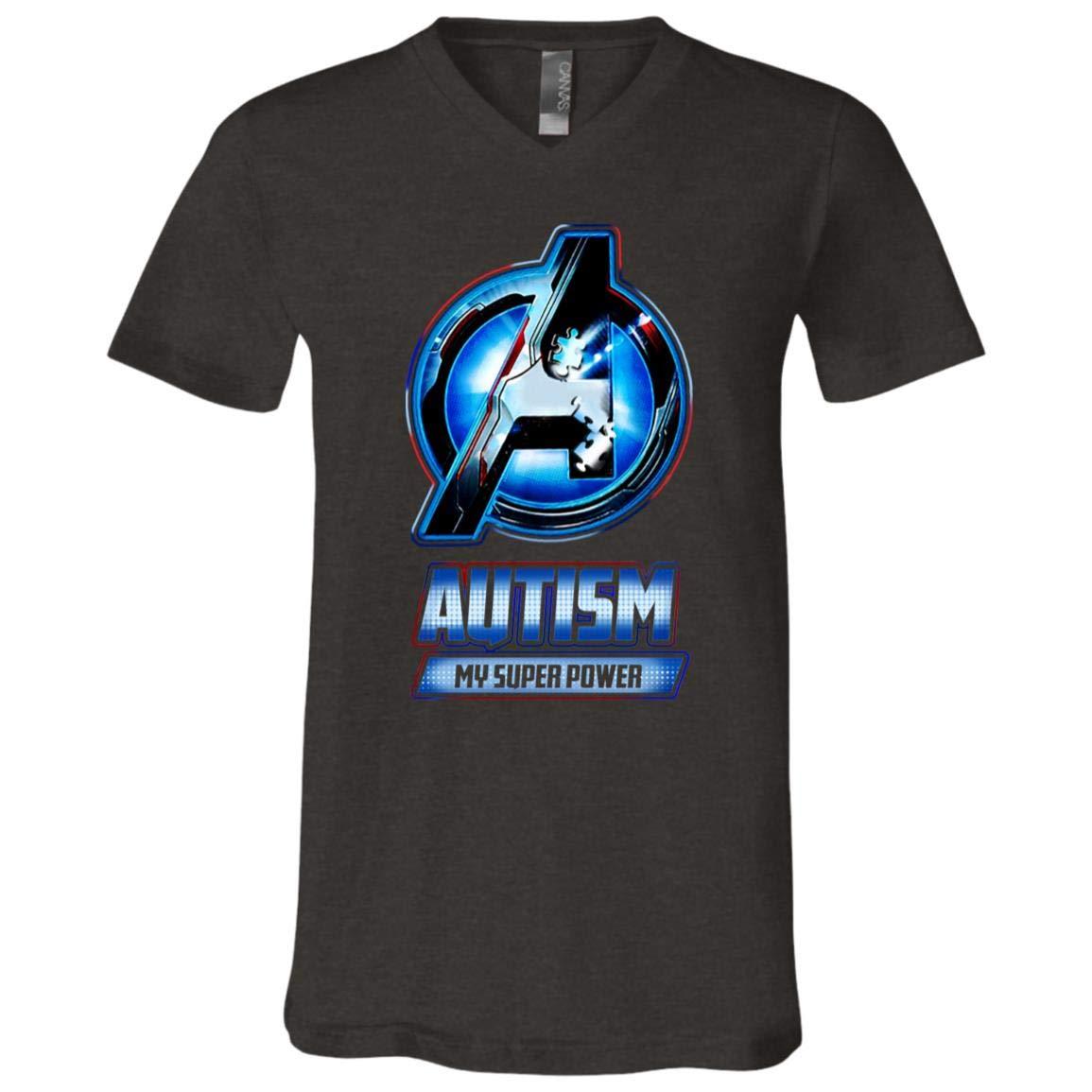 UrVog Autism My Super Power Autism Awareness T Shirt Gift for Autistic Kids Awareness T-Shirt