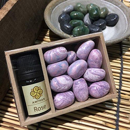 Rose Decor Aroma Diffuser Essential Oil Decor Fragrance Pure Beads Cold Spa Stone