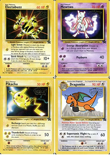 Promo 5 Card Set (Pokemon Card - Black Star Promos #2, #3, #4 and #5 (Electabuzz, Mewtwo, Pikachu and Dragonite ) - All Factory Sealed)