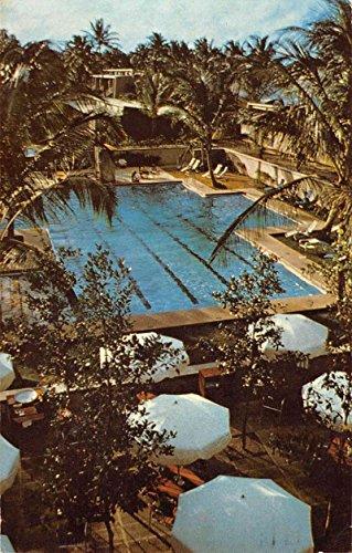 Dorado Beach Puerto Rico Hotel Pool View Vintage Postcard K80220