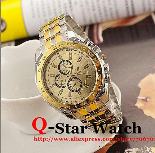 Alta calidad marca Orlando cuarzo relojes hombre Business dorado de lujo relojes hombres reloj macho reloj bw-sb-1063: Amazon.es: Relojes