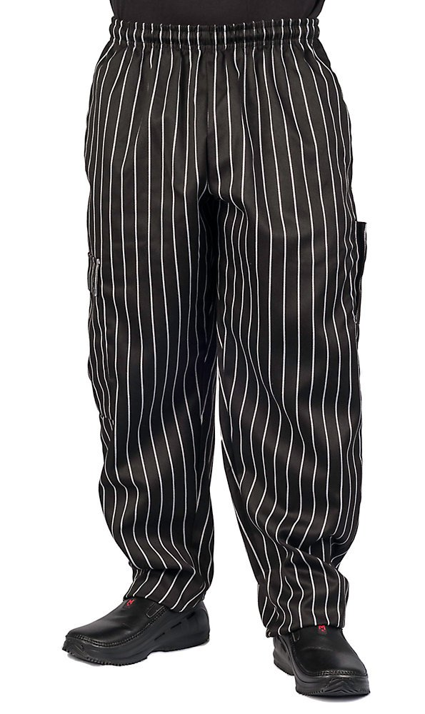 KNG Chalk Stripe Cargo Style Chef Pant, XL by KNG