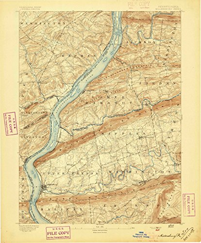 Pennsylvania Maps | 1893 Millersburg, PA USGS Historical Topographic Map |Fine Art Cartography Reproduction (Millersburg Pa)