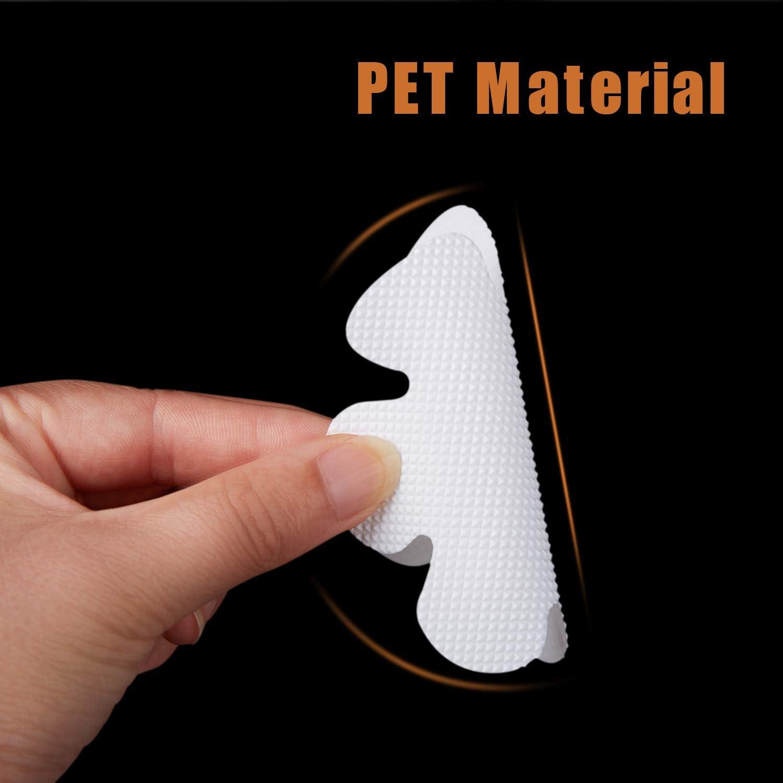 Gray Safety Shower Treads Adhesive Appliques with Premium Scrape Bathtub Stickers Non-Slip