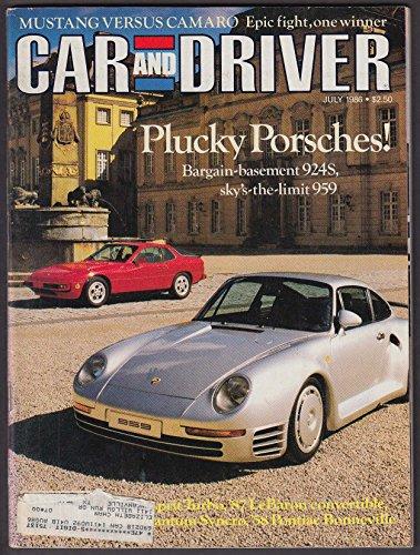 (CAR & DRIVER Lotus Esprit Turbo 1987 Chrysler LeBaron Convertible tests + 7)