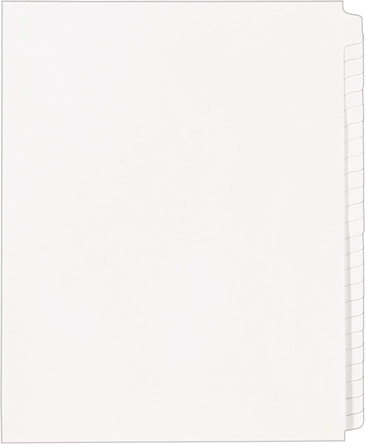 Avery 11959 Blank Tab Legal Exhibit Index Divider Set, 25-Tab, Letter, White, Set of 25 : Binder Index Dividers : Office Products
