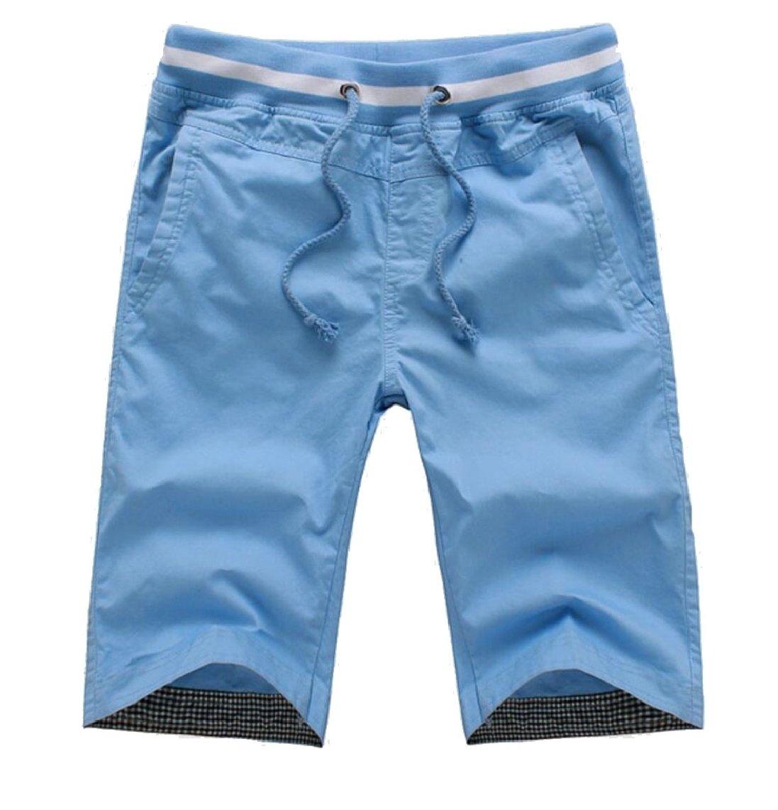 LEISHOP Men Fast Dry Strappy Shorts Slant Pockets Beach Wear Boxers