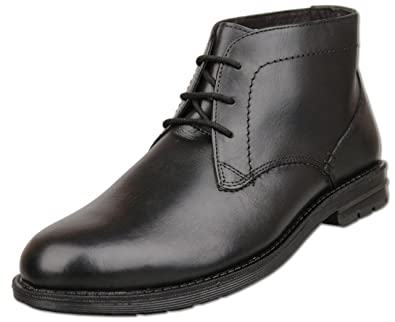 b93801aee4f2 Mens Black Smooth Leather Lace Up Ankle Boots Size UK 6 7 8 9 10 11 12 (size  11)  Amazon.co.uk  Shoes   Bags