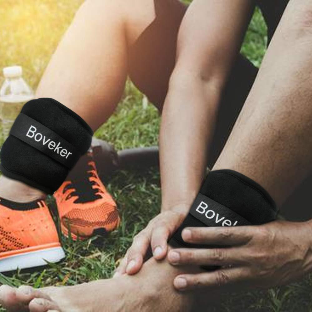 Aerobics Jogging Walking Boveker Ankle//Wrist Weights 1 Pair Adjustable Strap for Men Resistance Training Women 1lbs 2lbs 3lbs 4lbs 6lbs 8lbs 10lbs Kids