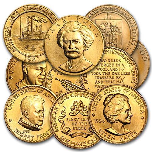1980-1984 U.S. Mint 1 oz Gold Commemorative Arts Medal (Random) 1 OZ About Uncirculated ()