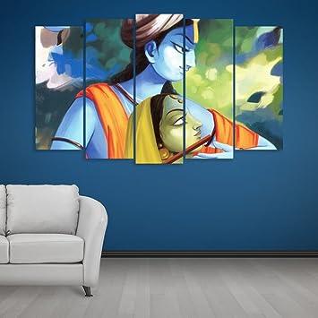 Inephos Multiple Frames Beautiful Radha Krishna Art Wall Painting