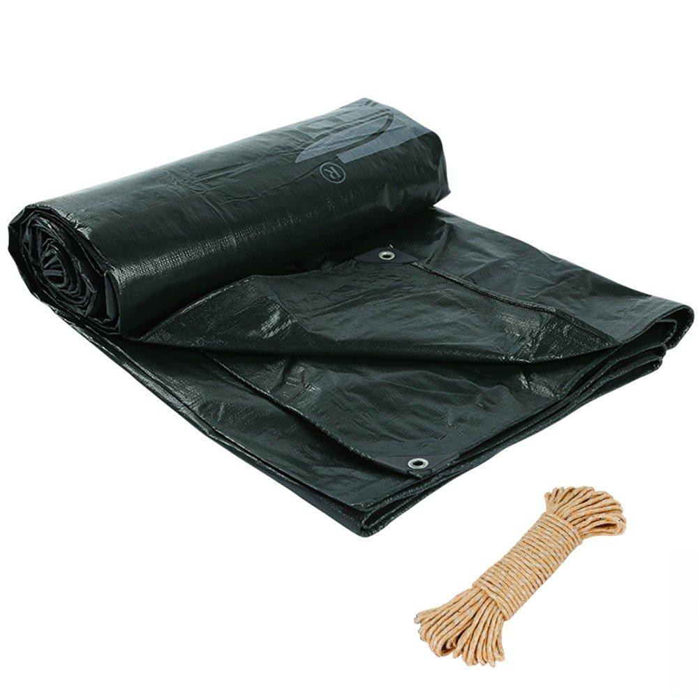 ブラック防風防水ターポリン0.25ミリメートルポリエチレン防水車屋外ガーデンターポリン耐傷性のある防水シート180g /平方メートル(13サイズあり) (色 : 黒, サイズ さいず : 4*5m) 4*5m 黒 B07FZ6VQXL
