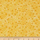 A.E. Nathan Flannel Stars Yellow Fabric By The Yard