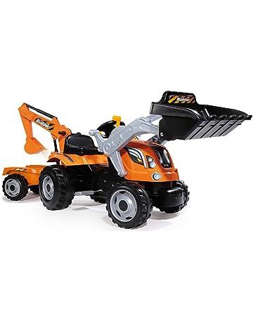 Tractor Builder Max a pedales con pala, excavadora y remolque (Smoby 710110)