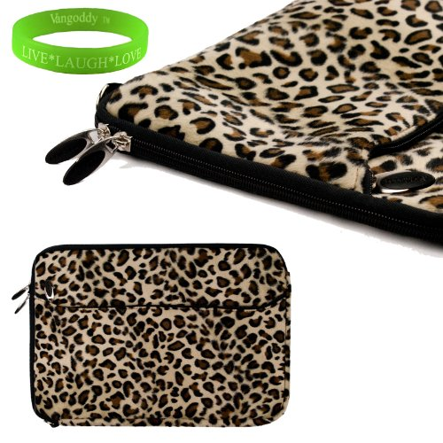 Travel friendly Exotic Leopard Print 13 inch Faux Fur Laptop