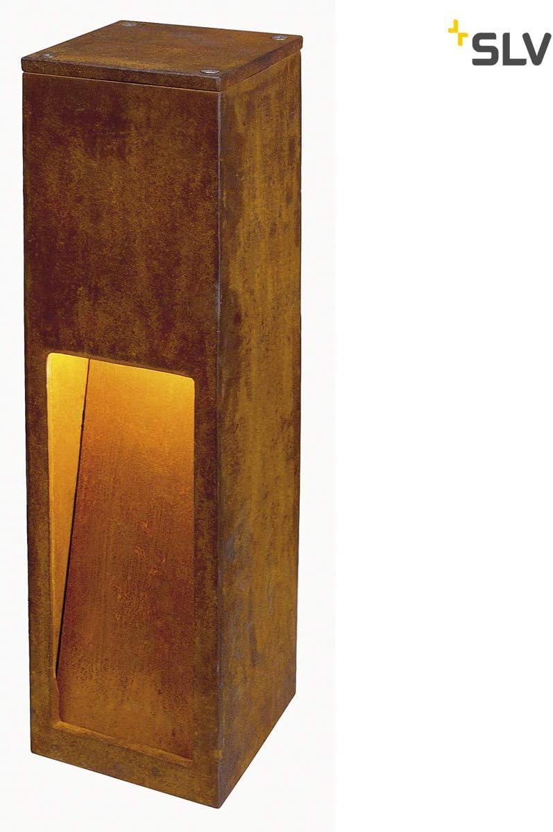 Slv rusty - Baliza 50 led cuadrado 8,6w 3k ip55 oxido: Amazon.es: Iluminación