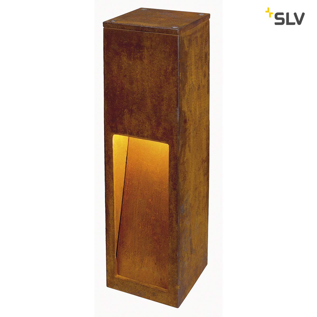 Luminaria pie Exterior 11w oxido Hierro SLV Rusty Slot 50
