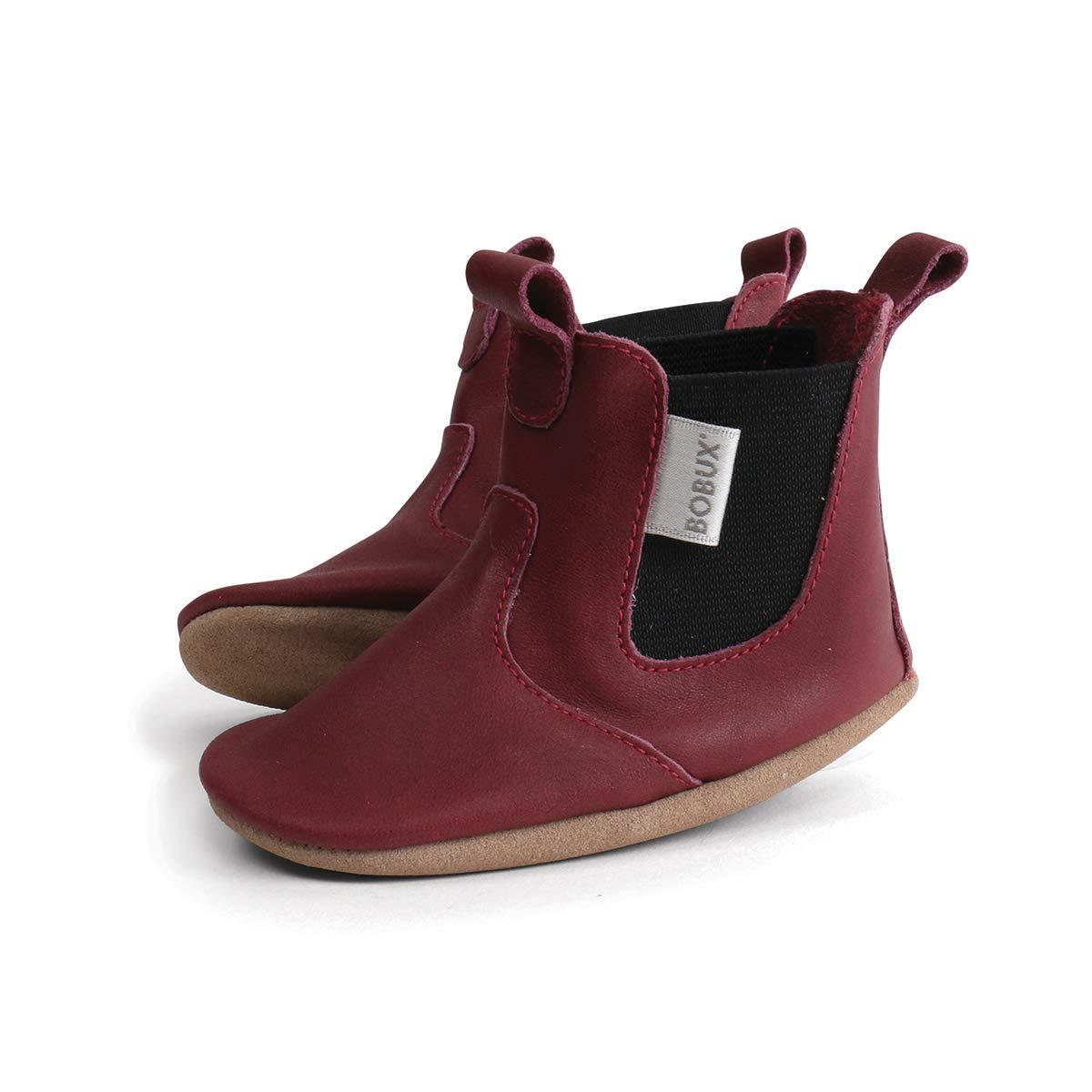 Chaussures b/éb/é Botte Jodphur Bordeaux Brillante Soft Soles Bobux