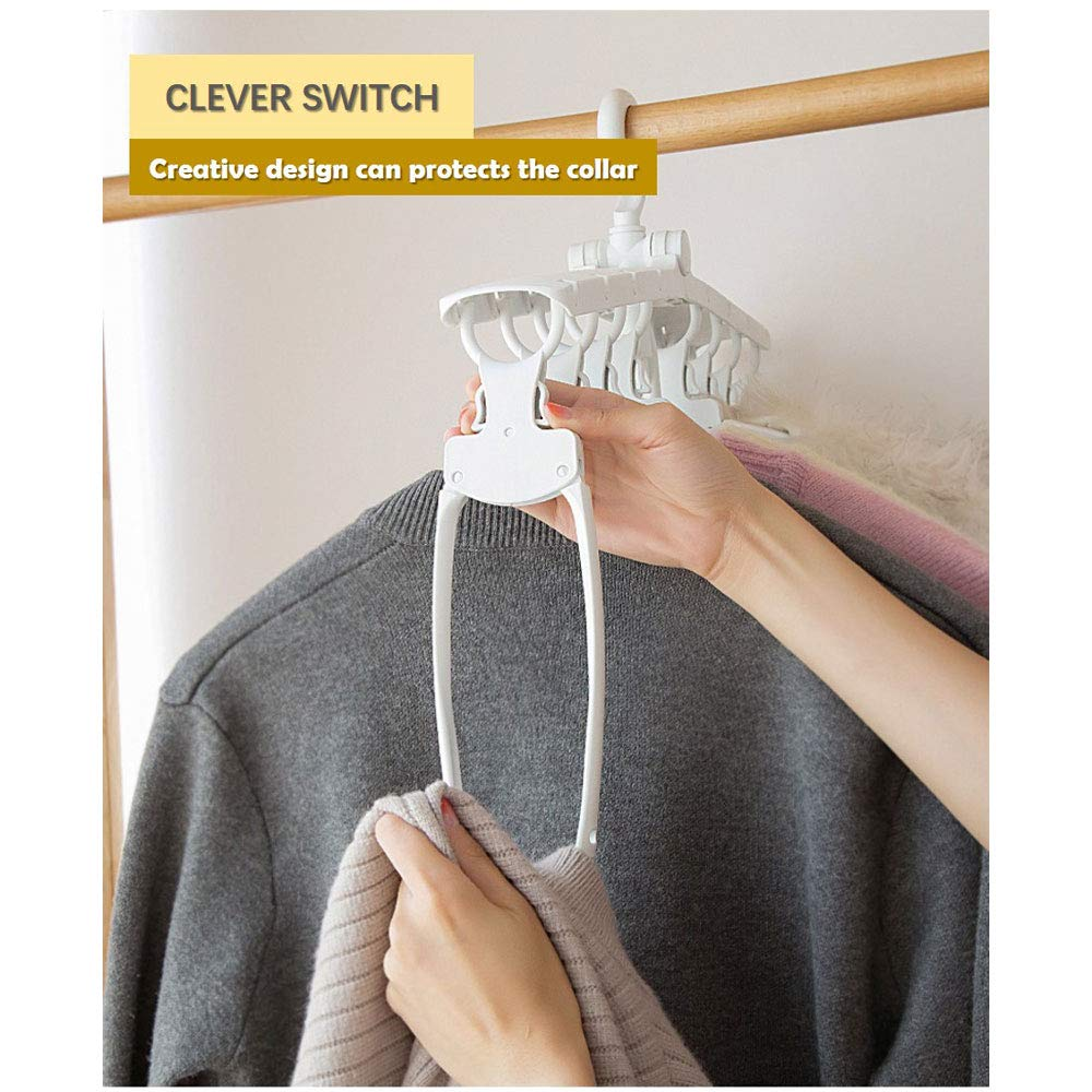 Clever Switch Design to Protect Clothes Collars M-Hangers Great to Organize and Keep Wardrobe Neatly Magic Space Saving Hangers