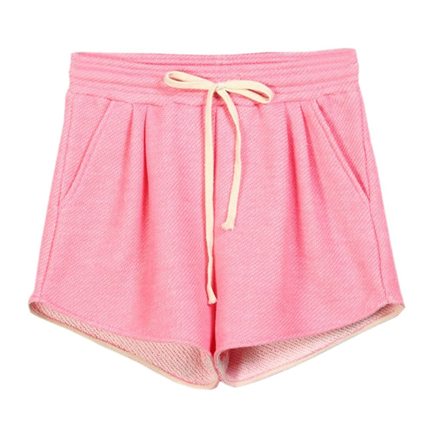 Orient Mystic Women's Casual Comfortable Drawstring Waist French Terry Shorts