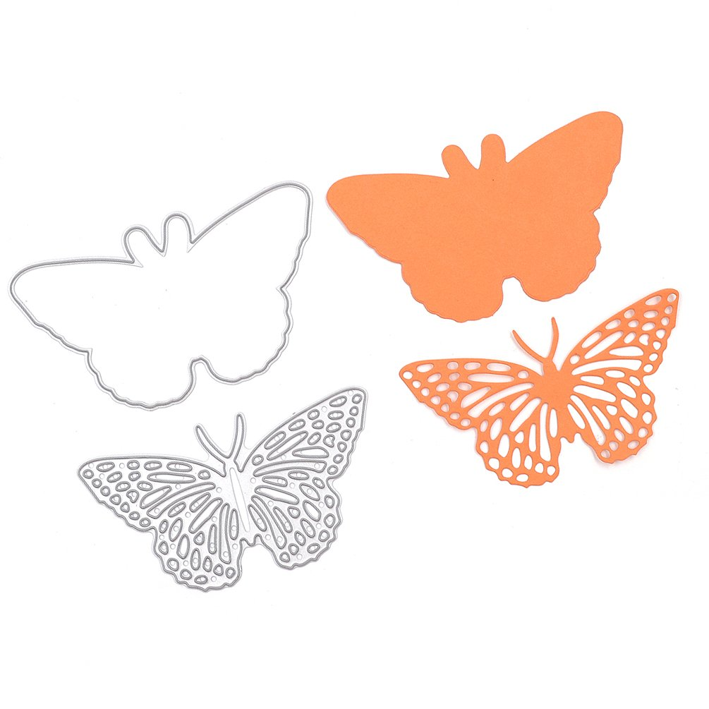Resting Butterfly Set Cutting Dies Stencil Frame Metal Template DIY Paper Card 1 Pc She-Buy 4336979132