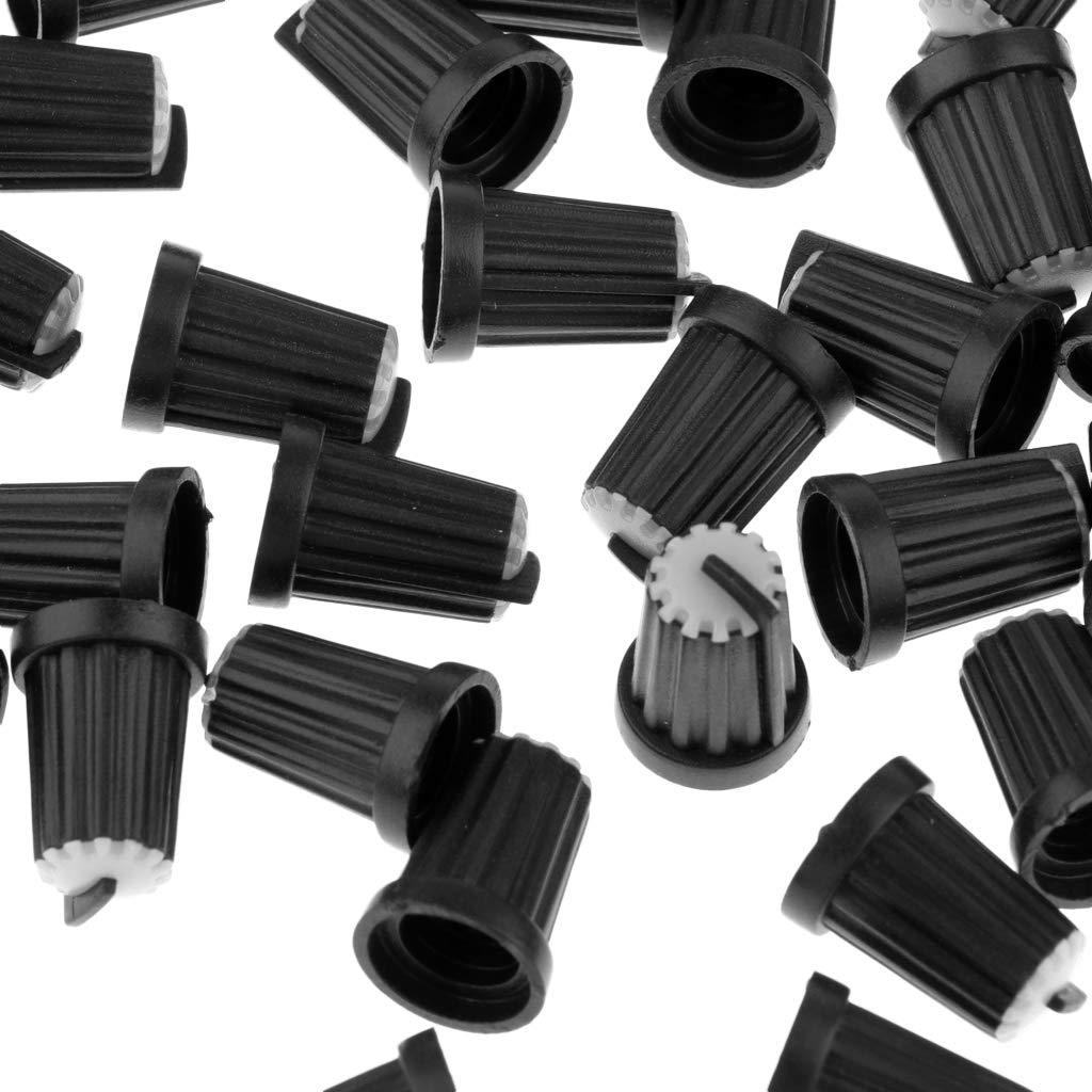 blanc F Fityle 100pcs Potentiom/ètre Rotatif 6mm en Plastique Potentiom/ètre Molet/ée Capuchons de Boutons