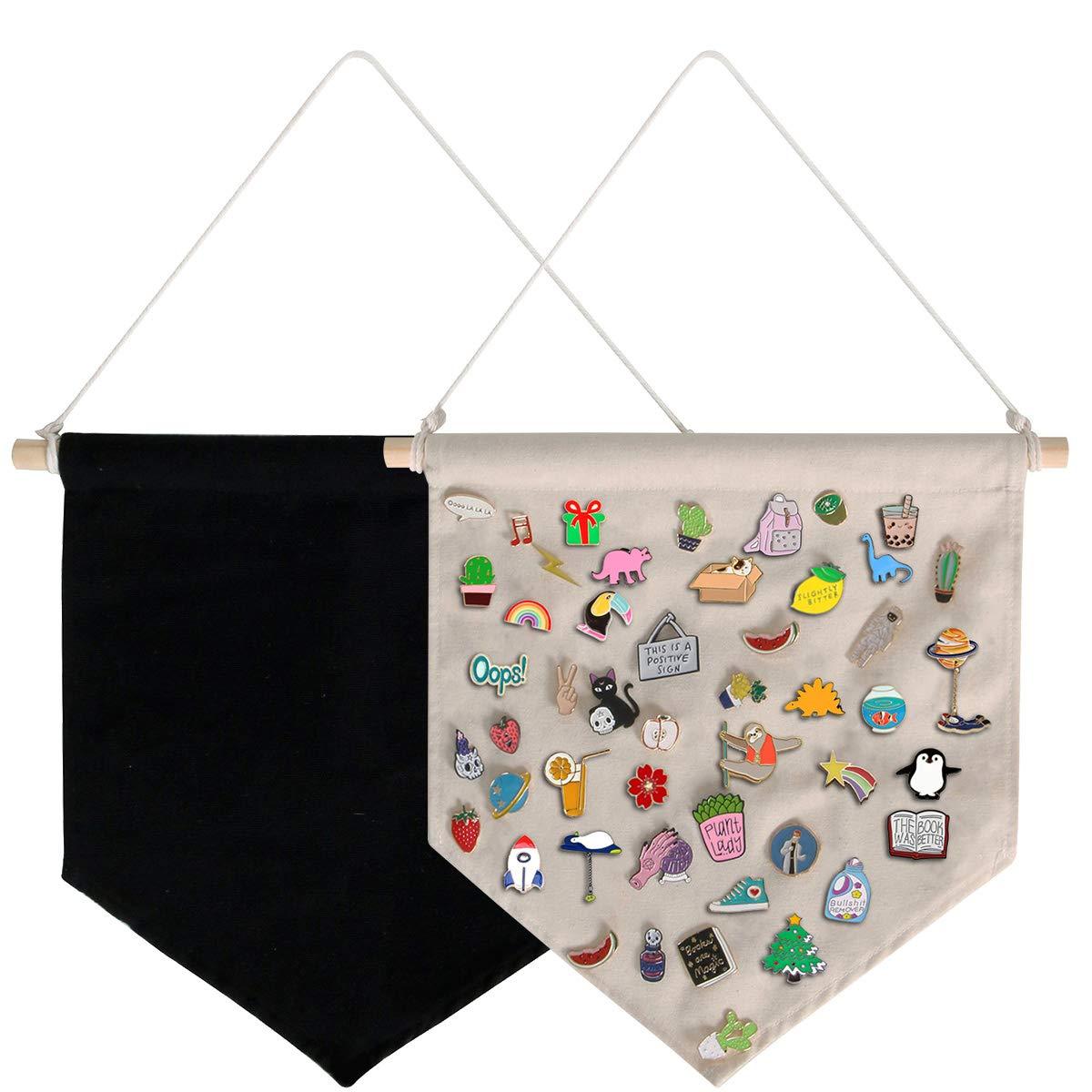 Pin Wall Display Banner Enamel Lapel Badge Flag Canvas Wall Banners 3 Colors