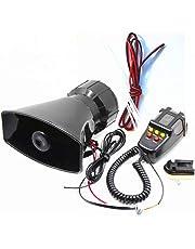 DHUILE Altavoz Siren para coche alarma Siren 12 V 80 W para coche Siren con micrófono