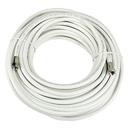 Perfect Vision 036013 50-Feet RG-6 Coaxial Cable with Ends, White