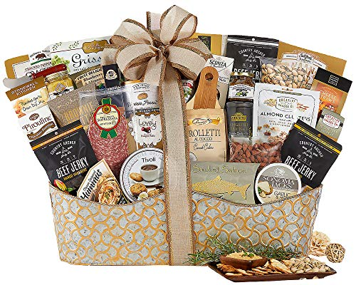 Ultimate Gift Tower - The V.I.P. Gourmet Gift Basket The Ultimate Gifting Experience by Wine Country Gift Baskets. Show Your Appreciation With This Flawless Gift Idea