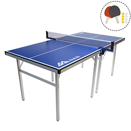 AceLife Ping Pong Table Midsize Compact Table Tennis Set with Net, Paddles and Balls