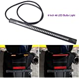 Pivalo Brake Stop Turn Signal License Plate 5W 3m Adhesive 3528 SMD 48 LED Bulb Light Strip for Car/Motorcycle/Harley Davidson/ATV/SUV, 8-inch