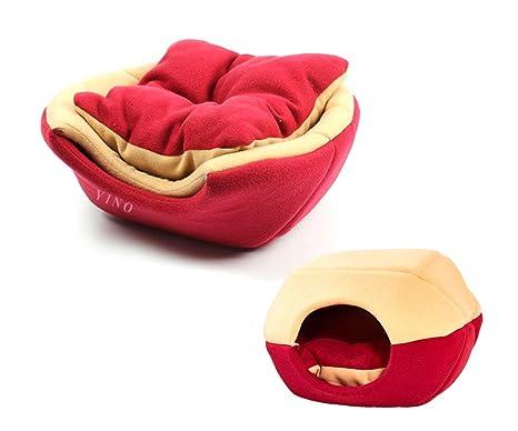 WOHO - Cama blanda para mascotas con forma de cueva, para alivio de articulaciones y