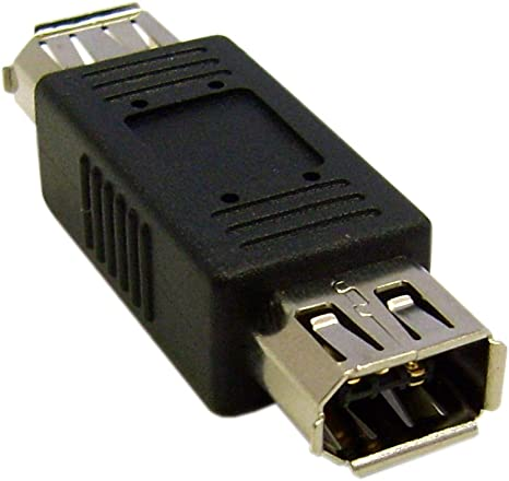 Kentek 6 Pin Female To 6 Pin Female IEEE-1394a Firewire iLINK DV Coupler PC MAC