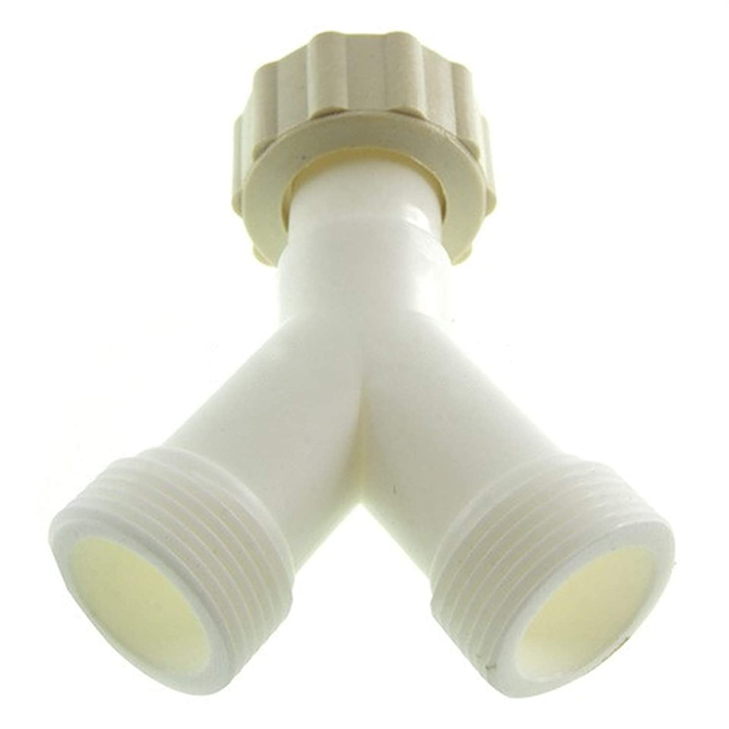 SPARES2GO Cold Water Fill Inlet Y-piece Splitter for Indesit Washing Machine//Dishwasher 3//4