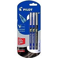 Pilot V7 Liquid Ink Roller Ball Pen (2 Blue + 1 Black)