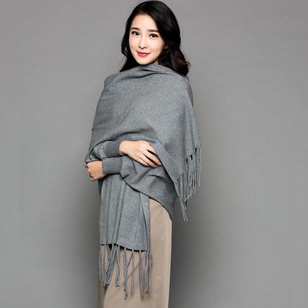 Bufanda HAIZHEN Elegante de moda femenina más gruesa con mangas Capa de oficina Otoño y chal cálido ...