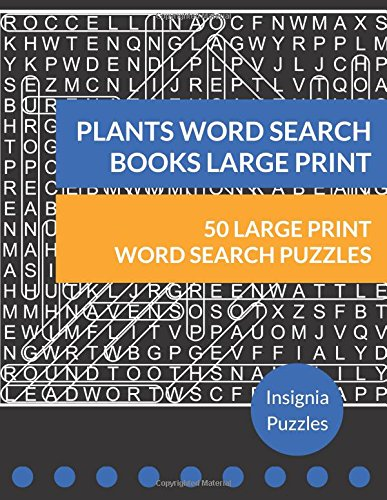 Read Online Plants Word Search Books Large Print: One Puzzle Per Page ebook