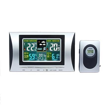 DXNSPF Estación Meteorológica Inalámbrica Digital Radio Control Reloj, Medir Temperatura °C /°F